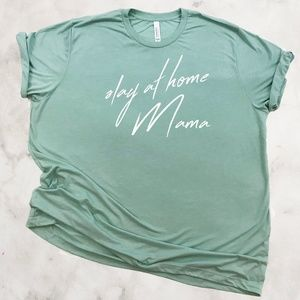 Slay at home mama graphic mom tshirt